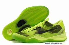 Discounts Nike Zoom Kobe VIII 8 555035-712 Fluorescent Green Black