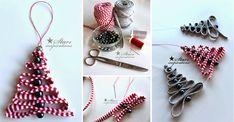 Easy DIY: Ribbon & Bead Christmas Tree Ornament