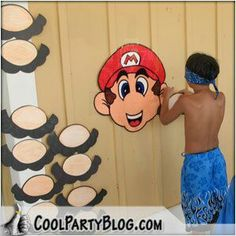 Mario party - Pin the STacHe on Mario - too funny!!