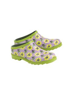 Gardening Clogs - Natural Rubber, Polyester Lined | Gardeners.com