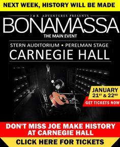 Watch the Best Jam Ever: Bonamassa & Clapton! Paul Kossoff, Joe Bonamassa, Jeff Beck, Carnegie Hall, Royal Albert Hall, Jimmy Page, Blues Rock, Get Tickets, Eric Clapton