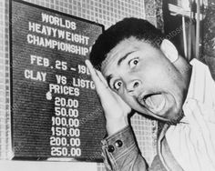 Muhammad Ali Clowns Around Boxing Sign Reprint Of Old Photo Muhammad Ali Clowns Around Boxing Sign Reprint Of Old Photo Here is a neat collectible featuring Muhammad Ali clowning around in f Boxing History, Sting Like A Bee, Float Like A Butterfly, Hometown Heroes, Clowning Around, Sports Figures, Box Signs, Old Quotes, Muhammad Ali