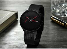 Ultra Thin Casual Style Watch Mens Sport Watches, Luxury Watches For Men, Mens Watch Brands, Men Watch, Waterproof Sports Watch, Casual Watches, Vintage Watches, Quartz Watch, Wristwatches