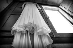 The wedding dress hangs in waiting inside the Chimbaluk suite at Serenita Sicily! Cinderella will go to the ball!!
