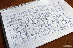 Write a Crossed Letter