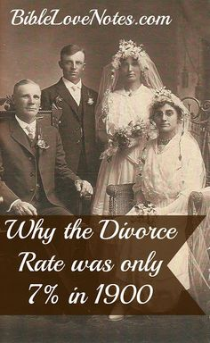"The divorce rate was:  7% in 1900 ~~26% in 1950 ~~ 40-50% from 1975 to the present ~~Since 2003, the ""official"" divorce rate has dipped below 40% at times. ~~ But this doesn't reflect break-ups of cohabiting couples, and cohabitation has doubled since the mid-1990's."
