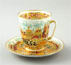 Ekaterina's Imperial Porcelain &Tea. Golden Spring Cup&Saucer