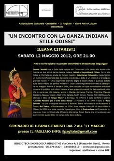 BHARATA NATYAM ROMA: DANZA ODISSI A ROMA - STAGE CON ILEANA CITARISTI