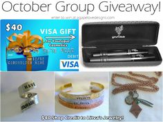 October Group Giveaway!