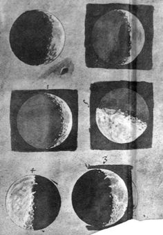 Galileo's 1616 drawings of the moon