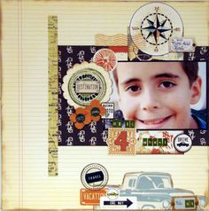 HE IS 4 WHEEL DRIVE - Deja Views - C-Thru - Little Yellow Bicycle - Traveler Collection Little Yellow Bicycle, Scrapbooking, Layout, Travel, Collection, Viajes, Page Layout, Destinations, Traveling