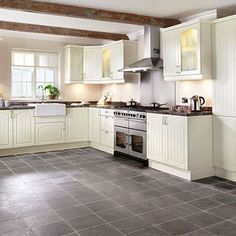 Grey Kitchen Floor kitchen flooring ideas | remodeling an apartment | pinterest