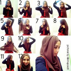 how to wear hijab for round face