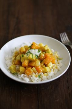 Butternut Squash and Yam Curry    www.theroastedroot.net