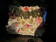 6ftx6ft paper flowers backdrop for wedding $900