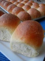 Lion House Rolls  These look like the wonderful rolls we got in Elementary School. Have to try these.