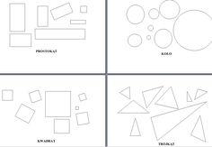 zestaw figur geometrycznych, koło, prostokąt, kwadrat, trapez, wielokąt