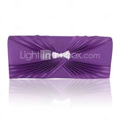 Gorgeous Satin With Austrian Rhinestone Evening Clutches More Colors Available