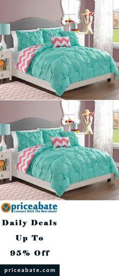 pink & white chevron designer teen & dorm bed in a bag | teen girl