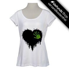 #Green-Shirts - #Black Heart - Frauen T-Shirt - weiß - 32,40€ - 100% organic cotton and fairtrade - Versand kostenlos