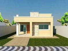 Resultado de imagem para fachadas casas simples e pequenas