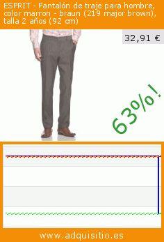 ESPRIT - Pantalón de traje para hombre, color marron - braun (219 major brown), talla 2 años (92 cm) (Ropa). Baja 63%! Precio actual 32,91 €, el precio anterior fue de 89,99 €. https://www.adquisitio.es/esprit/pantal%C3%B3n-traje-hombre-19