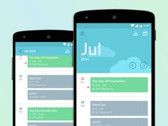 25 Gorgeous Examples Of Calendar Usage In Mobile UI Design Android Material Design, Android Design, Android Ui, Web Design, App Ui Design, User Interface Design, Flat Design, Graphic Design, Calendar App