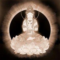 Image result for kuan yin Dalai Lama, Japanese Goddess, Le Tibet, Spiritual Images, Japanese Artwork, Meditation Art, Oriental, Divine Mother, Buddha Art