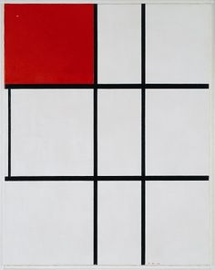 Piet Mondrian - Composition B No II with red - 1935