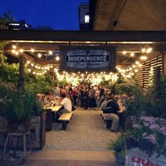 Independence Beer Garden - if you locate a pop-up bar or pop-up restaurant in a nursery or  suitable park, it only takes some lights, tables, some prep or food trucks to make a fantastic event.