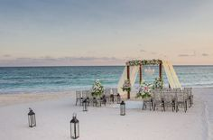 The best looking beach wedding I've ever seen.