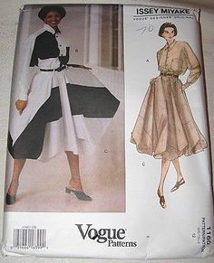 Issey Miyake Vogue 1160 Misses' Shirt and Skirt Size 12 | eBay uncut sld 19.95+3.45 4/17/16