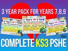 KS3 PSHE : 3 Years of KS3 PSHE Pshe Lessons, Citizenship Lessons, Uk Gov, British Values, Teaching Resources, School Resources, Positive Behavior, Anti Bullying, Home Learning