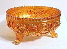 "Carnival Glass - Imperial - Lustre Rose - Marigold Fernery 7 1/2"""