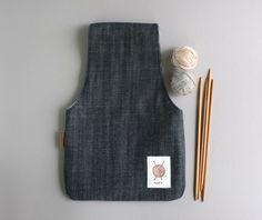 Knitting Project bag, Knitting Wristlet, Yarn Pouch by OtterburnPQ on Etsy https://www.etsy.com/listing/200813562/knitting-project-bag-knitting-wristlet