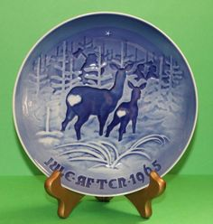 Bing & Grondahl I Skoven for Jul In the Forest for Christmas 1965 B&G Plate #babescollectibles