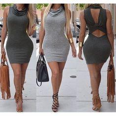 Fashion Bodycon Sleeveless Backless Dress