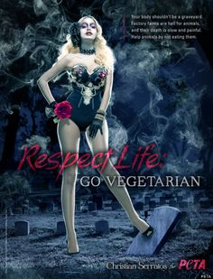 peta ads | ... Twilight' Actress, Gets Dark And Deadly In New PETA Ad (PHOTO, VIDEO