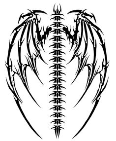 40 Best Cool Tribal Wings Tattoo Stencil Images Feather Tattoos