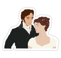 High quality Jane Austen gifts and merchandise. Inspired designs on t-shirts, posters, stickers, home decor, and more by independent artists and designers from around the world. Tumblr Stickers, Cool Stickers, Printable Stickers, Custom Stickers, Mr Darcy And Elizabeth, Doodle Cartoon, Aesthetic Stickers, Pride And Prejudice, Jane Austen