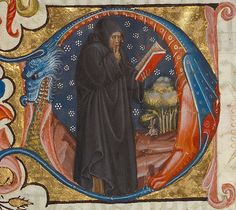 Initial D: A Monk with his Finger to his Lips, Italian, about 1420