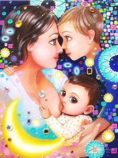 Mother Art, Mother And Baby, Art Wall Kids, Art For Kids, Hug Illustration, Mother And Child Painting, Pregnancy Art, Barbie Wedding Dress, Art Painting Gallery