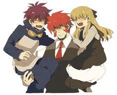 Klaus, Leonard y Michella