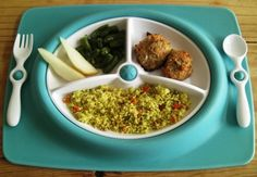 turkey meatballs | couscous with mixed veggies | green beans | sliced pears