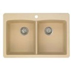 Blanco 441217 Diamond Silgranit II Equal Double Bowl Kitchen Sink In Biscotti at HomePerfect.com http://www.homeperfect.com/blanco-441217-diamond-kitchen-sinks-biscotti.html