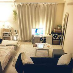 small room design for baby girl Tiny Studio Apartments, Studio Apartment Layout, Apartment Design, Apartment Living, Small Room Layouts, Small Room Design, Small Rooms, Small Spaces, Studio Room