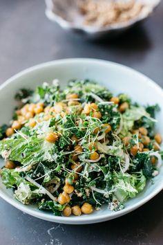 Chickpea & Kale Caeser Salad — Sarah Glover