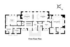 New Hampshire Country House Competition-First Floor Plan