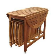 Includes Foldable Table And 4 Comfortable Folding Chairs The Sides Of