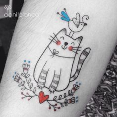 Miau! #repost by dani.bianco_tattoo